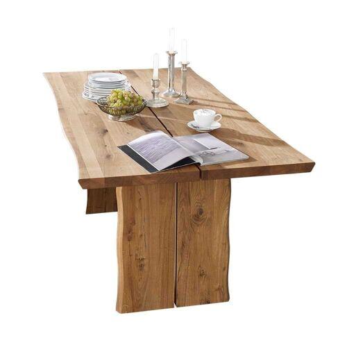Pharao24 Baumkantentisch »Agata«, aus Massivholz, mit Baumkante