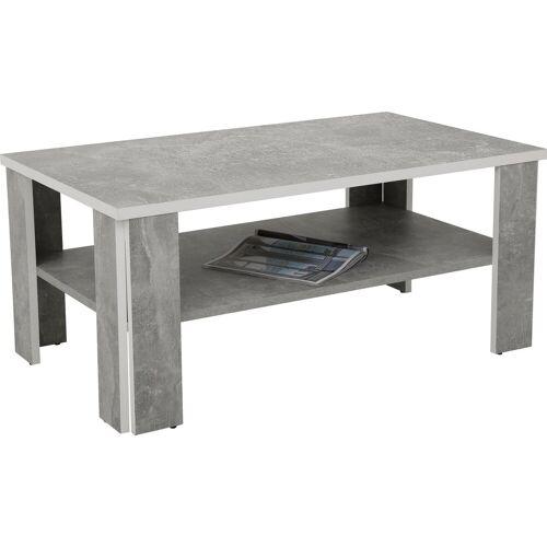 HELA Couchtisch, betonoptik-weiß