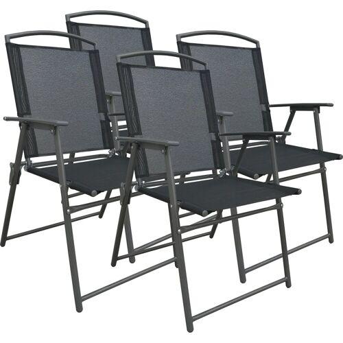 VCM Gartenstuhl - Set klappbar, 4 Stühle