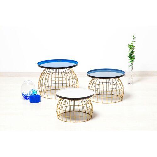 Kayoom Beistelltisch »Laudatio«, (3er-Set), blau
