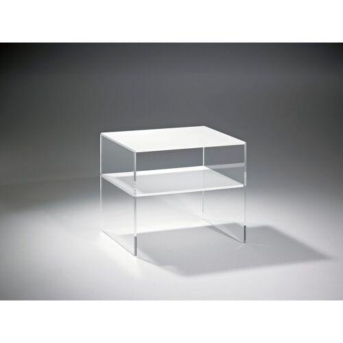 Places of Style Couchtisch »Remus«, aus Acrylglas, klar/weiß