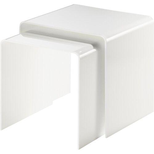 Places of Style Beistelltisch »Remus«, aus Acrylglas, weiß