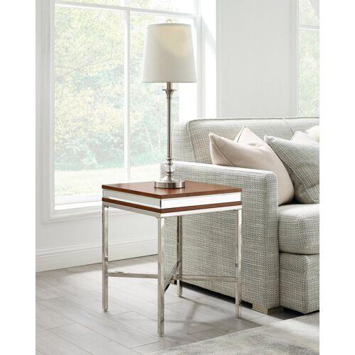Leonique Beistelltisch »Adeline«, mit einer 7 cm starken Tischplatte, im Industrial-Look