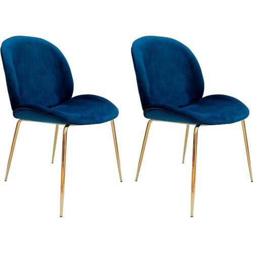 Kayoom Stuhl »Charlize 110« (2 Stück), blau / messing