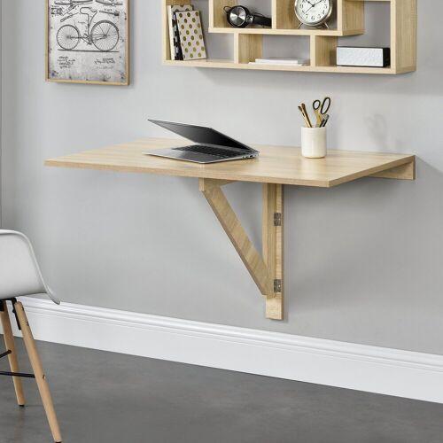 en.casa Schreibtisch, »Singapur« Breite 100cm, Klappbarer Wandtisch
