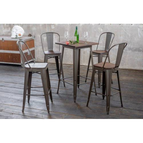 KAWOLA Essgruppe »Bartisch VILDA und Stuhl ELI«, 3 oder 5 teilig Bartisch VILDA und Stuhl ELI