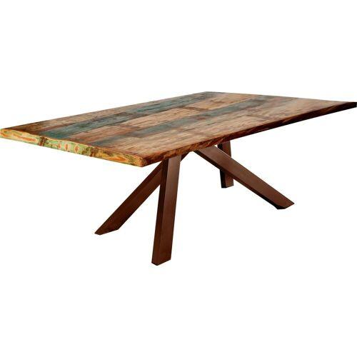 SIT Esstisch »Tops&Tables«, mit bunter Altholzplatte, Shabby Chic, Vintage, braun