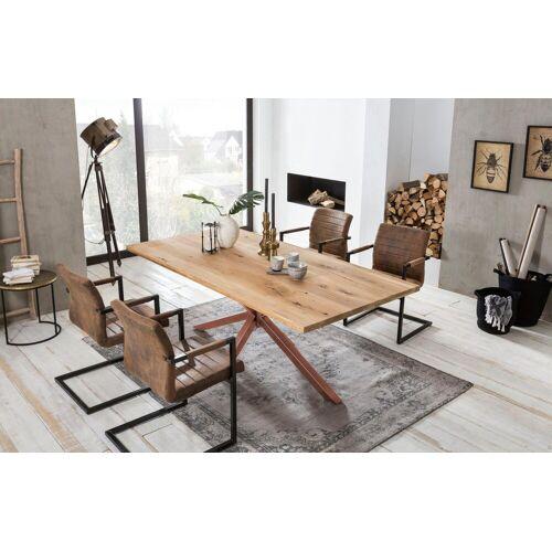 SIT Esstisch »Tops&Tables«, Tischplatte auf 4 cm aufgedoppelt, natur/braun   braun
