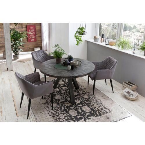 SIT Esstisch »Tops&Tables«, mit Massivholzplatte aus Mangoholz, grau