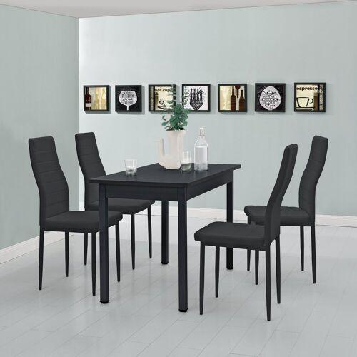 en.casa Esstisch, Moderner Küchentisch »Den Haag« 120x60cm in schwarz, schwarz