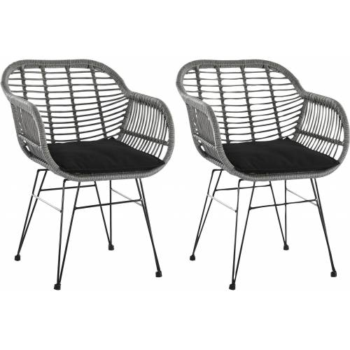 SalesFever Stuhl inklusive Sitzkissen, im 2er-Set