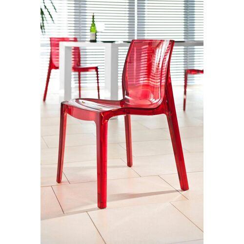 SalesFever Esszimmerstuhl in transparentem Design, rot transparent