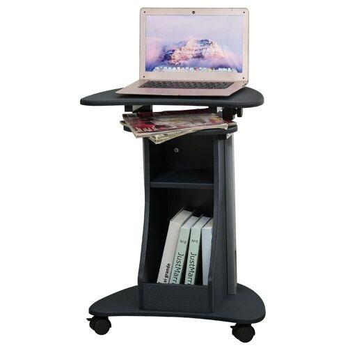 HOMCOM Laptoptisch »Laptoptisch mit Rollen und Ablagefläche«