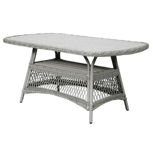 ebuy24 Gartentisch »Hvalo Gartentisch 165 x 90 cm, mit Glasplatte, san«