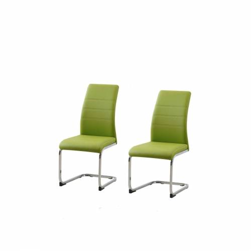 HTI-Line Esszimmerstuhl »Schwingstuhl 2er Set PU grün SallyC«