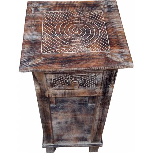 Guru-Shop Couchtisch »Telefontisch, Flurtisch - Spirale«