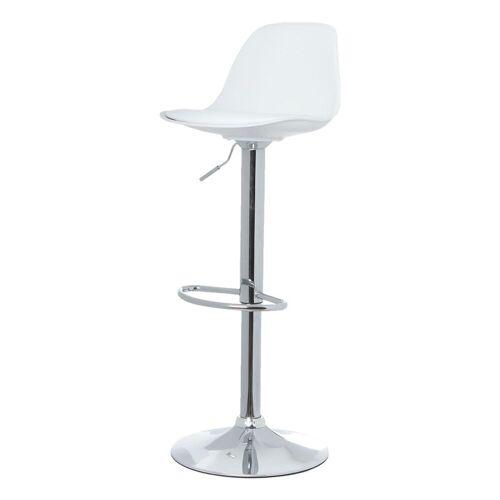 PAPERFLOW Barhocker »Bobba« (2er-Set), Sitzkissen aus Kunstleder, weiß
