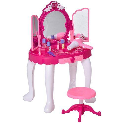 HOMCOM Schminktisch »Kinderschminktisch mit Spiegel und Musik«