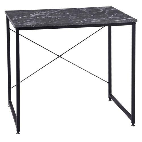 Woltu Schreibtisch, Schreibtisch im Desktop Design, schwarzer Marmor