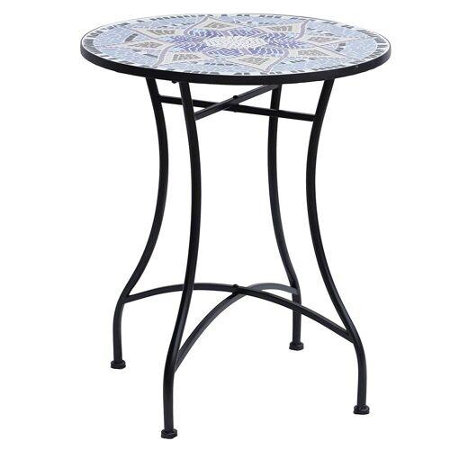 Outsunny Gartentisch »Mosaiktisch rund«