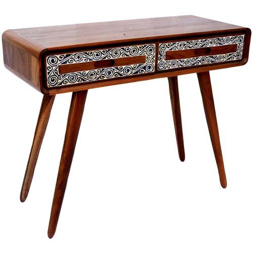 Guru-Shop Schreibtisch »Kleiner Schreibtisch, Flurtisch aus Teakholz im..«