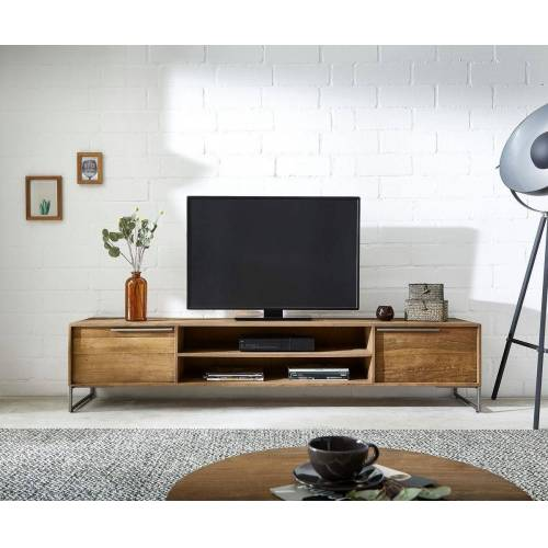 DELIFE TV-Board »Odon«, Natur 200x40x45 cm Exotic Wood Lowboard