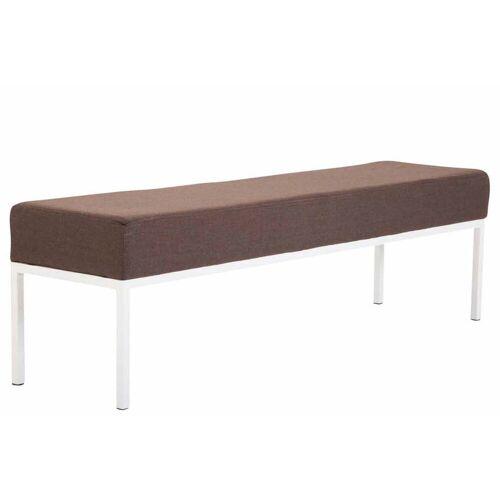 CLP Sitzbank »Newton Stoff«, 4er Sitzbank mit Metallgestell, braun