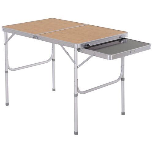 Outsunny Campingtisch »Campingtisch mit seitlicher Tischplatte«