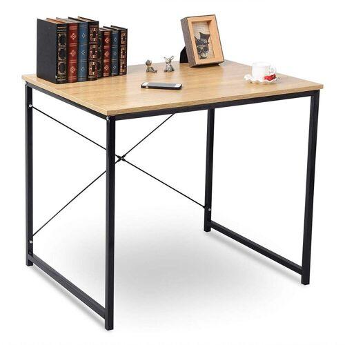 Woltu Schreibtisch, Schreibtisch im Desktop Design, Hell Eiche