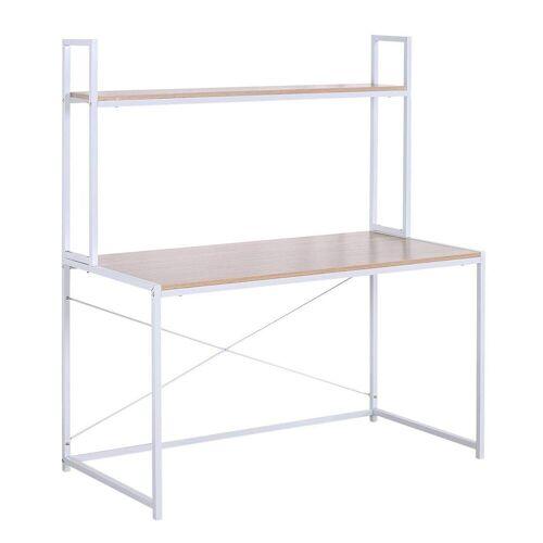 Woltu Schreibtisch, Schreibtisch mit Ablage