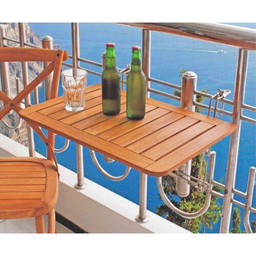 dynamic24 Klapptisch, Balkon Klapptisch Teak Holz Hängetisch Tisch Balkon klappbar Balkonhängetisch