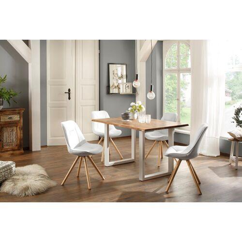 Home affaire Esstisch »Tunis« (Set), (5-tlg), bestehend aus dem Esstisch »Melody« und vier Stühlen »Maitland«