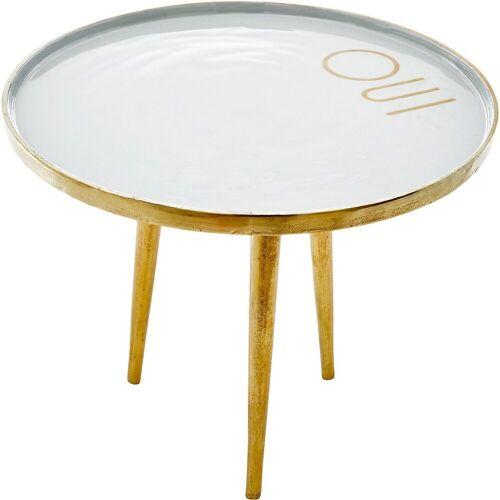 """rice Beistelltisch »Metall Beistelltisch """"OUI"""", Ø45 x H38 cm«"""