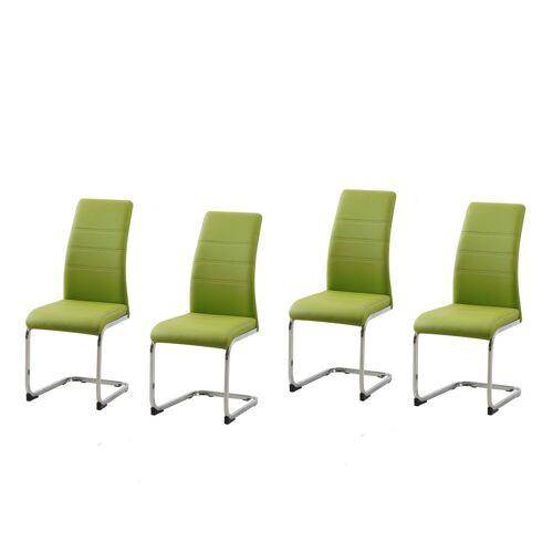 HTI-Line Esszimmerstuhl »Schwingstuhl 4er Set PU grün SallyC«