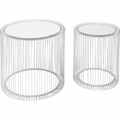 KARE Beistelltisch »Beistelltisch Wire Silber 2Set 44cm«