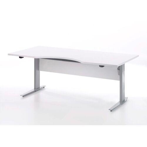 ebuy24 Schreibtisch »Prisme Schreibtisch elektronisch heben/senken weis«