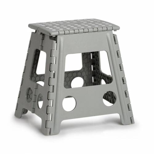 Zeller Present Klappstuhl Kunststoff, klappbar, Sitzhöhe 39 cm, grau   grau   grau