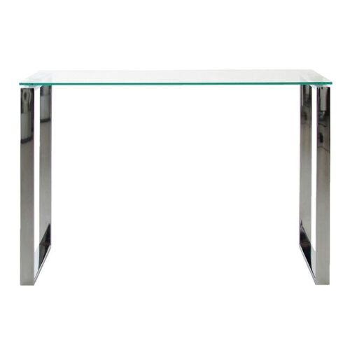 ebuy24 Konsolentisch »Kate Konsolentisch mit klaren Glas und Chrom Geste«