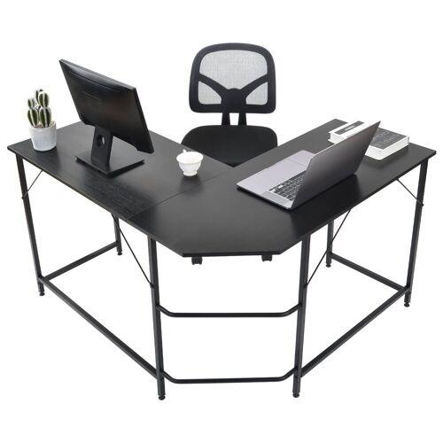 Gotui Computertisch, Computertisch « Eckschreibtisch L-förmiger Computertisch, Eckschreibtisch, Schwarz, 124*120*77cm