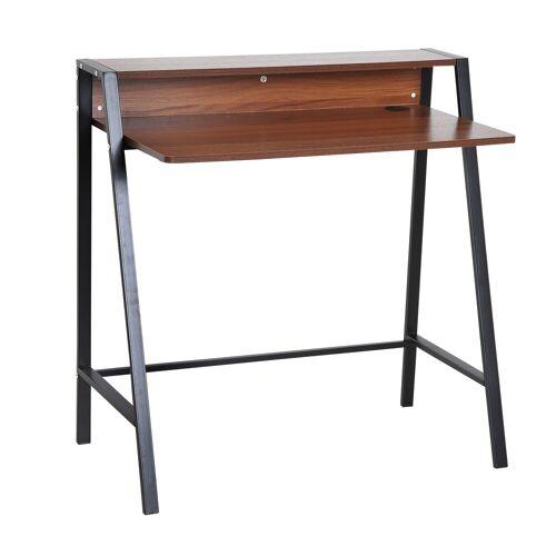 HOMCOM Schreibtisch »Schreibtisch in Walnuss-Optik«