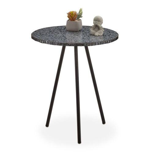 relaxdays Beistelltisch »Beistelltisch Mosaik«, Schwarz