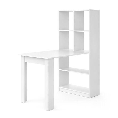 Vicco Regal-Schreibtisch »Schreibtisch Gael weiß Computertisch mit Ablage Regal Raumteiler Bürotisch«