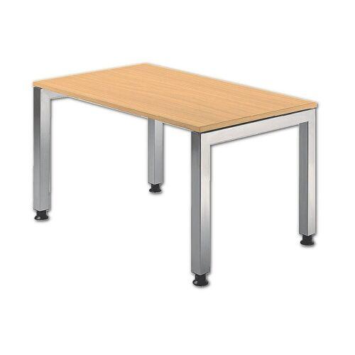 """HAMMERBACHER Schreibtisch »J-Line«, mit optisch """"schwebender"""" Tischplatte, buche"""