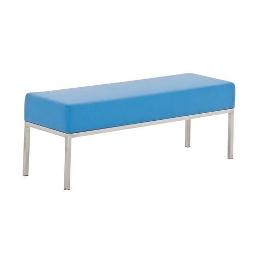 CLP Sitzbank »3er Sitzbank Lamega Kunstleder«, 3er Sitzbank Kunstleder Sitzmodul, blau