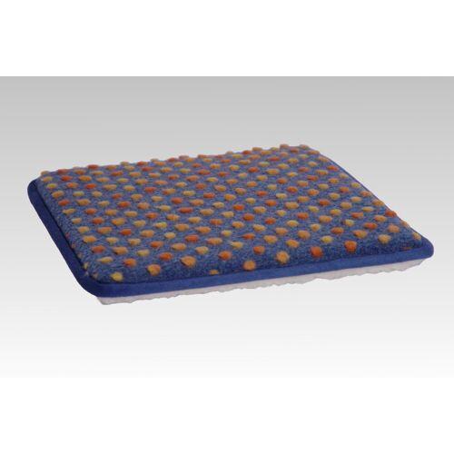 Licardo Sitzkissen »Stuhlkissen 2er Pack Wolle Noppen 37 x 40 cm«, blau