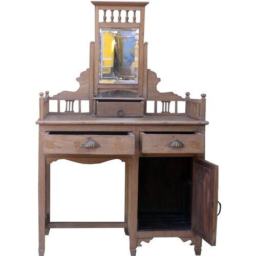 Guru-Shop Schreibtisch »Schminktisch, Ankleide Schrank - Modell 40«