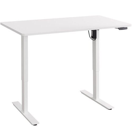 Balderia Schreibtisch, Schreibtisch - Elektrisch Verstellbarer Schreibtisch - Tisch für Heim & Büro - Höhe 62,5-128,5 cm - Fläche 120 x 60 cm, Weiß