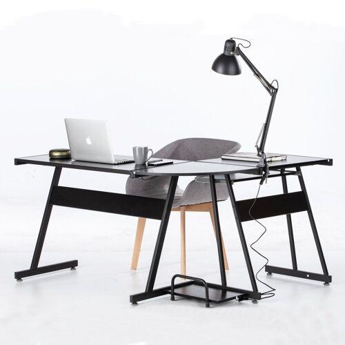 Superfy Schreibtisch, platzsparendes L-Förmiges Design