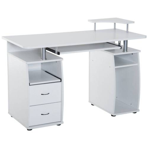 HOMCOM Computertisch »Computertisch«, weiß