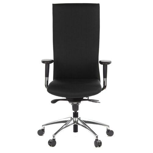 hjh OFFICE Drehstuhl »High End Bürostuhl OFFICE-TEC«, Schwarz